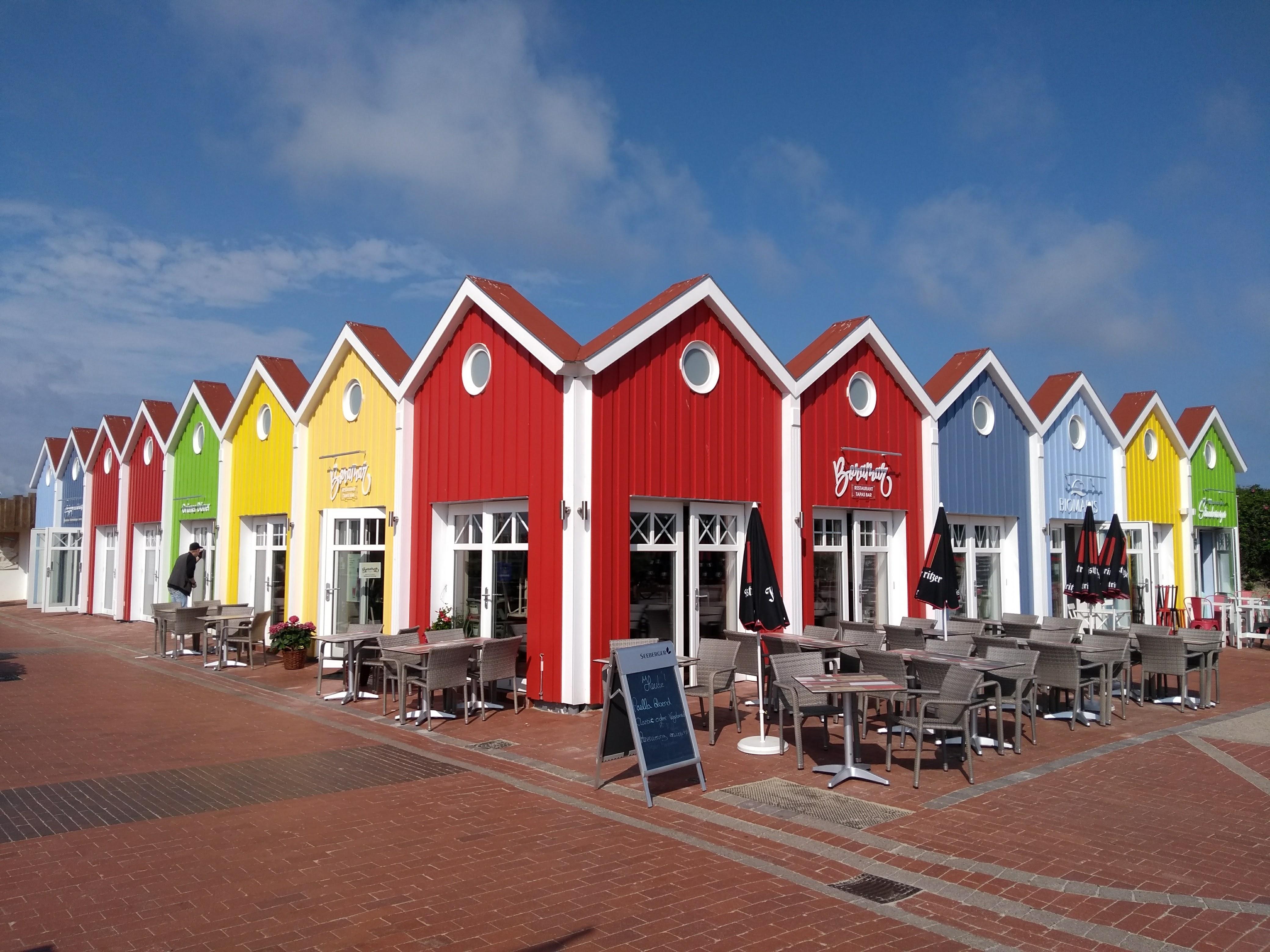 Bunte Haeuser Langeoog